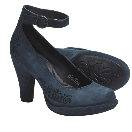 Crown by Born Silvana Pumps - Leather (For Women) in Pavone