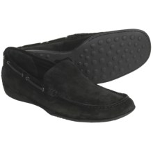 Crown by Born Vincent Loafer Shoes (For Men) in Black Suede - Closeouts