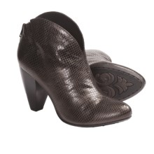 Crown by Born Woodlynne Ankle Boots - Leather (For Women) in Fango Printed Snake - Closeouts