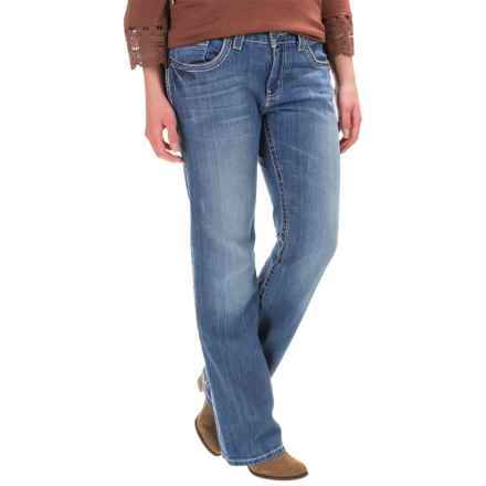 Cruel Denim Abby Mid-Rise Jeans - Slim Fit, Bootcut (For Women) in Light Wash - Closeouts