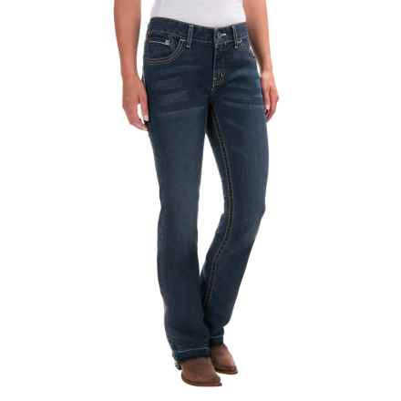 Cruel Denim Abby Slim Fit Jeans - Mid Rise, Bootcut (For Women) in Dark Wash - Closeouts