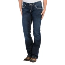 Cruel Girl Abby Jeans - Slim Fit, Mid Rise, Bootcut (For Women) in Dark Wash - Closeouts