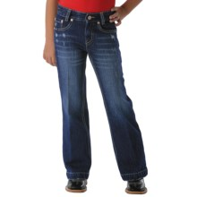 Cruel Girl Alexis Jeans - Low Rise (For Girls) in Dark Wash - Closeouts