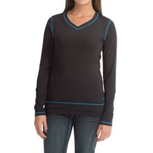Cruel Girl Athletic T-Shirt - Long Sleeve (For Women) in Black - Closeouts