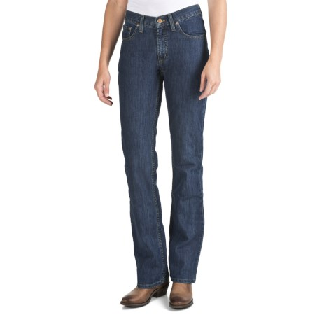 Cruel Girl Dakota Stretch Jeans - Relaxed Fit, Bootcut (For Women) in Medium Stonewash