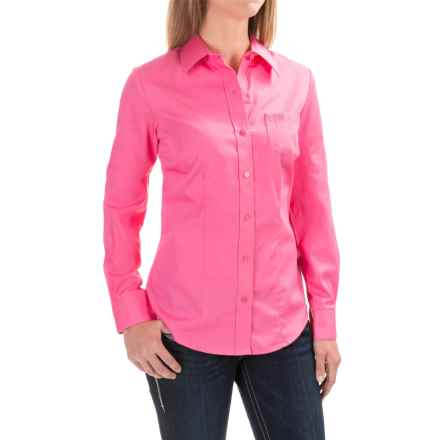 Cruel Girl Pinpoint Shirt - Long Sleeve (For Women) in Hot Pink - Closeouts