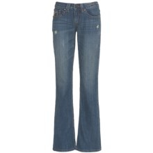 Cruel Girl Sadie Jeans - Bootcut, Embellished Back Pockets (For Women) in Dark Khaki Blast - Closeouts