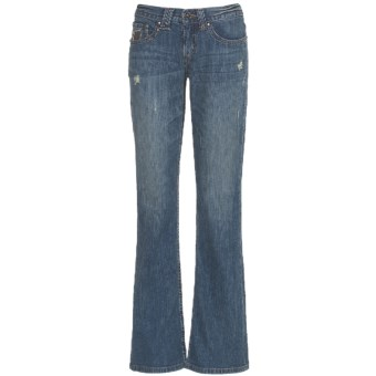 Cruel Girl Sadie Jeans - Bootcut, Embellished Back Pockets (For Women) in Dark Khaki Blast
