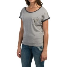 Cruel Girl Sparkle T-Shirt - Short Sleeve (For Women) in Gray - Closeouts
