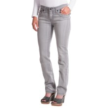 Cruel Girl Trinity Jeans - Slim Fit, Straight Leg (For Women) in Grey Wash - Closeouts