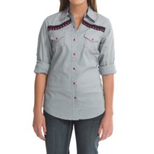 Cruel Girl Western Shirt - Snap Front, Long Sleeve (For Women) in Gray - Closeouts