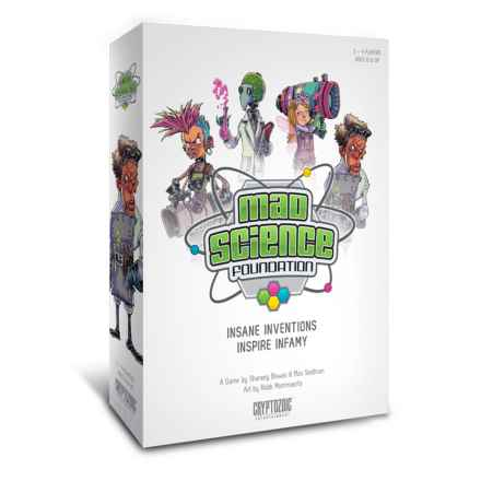 Cryptozoic Entertainment Mad Science Foundation Board Game in See Photo - Closeouts