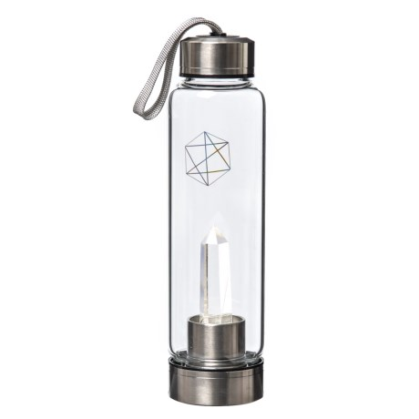 Image of Crystal Column Water Bottle - 18.6 oz.