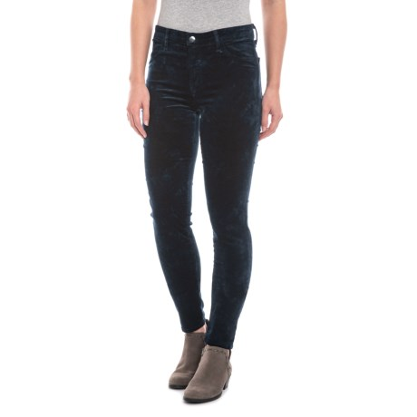 Image of Crystal Dark Iris 815 Super Skinny Jeans - Mid Rise (For Women)