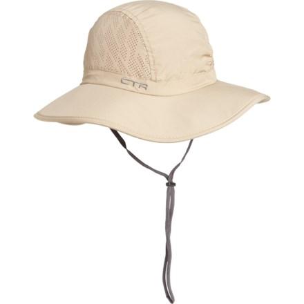 ff115286a18 CTR Flat Brim Sun Bucket Hat - UPF 50 (For Women) in Khaki -