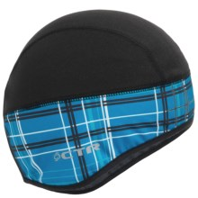 CTR Glacier Fleece Skull Cap (For Men) in Blue Plaid - Closeouts
