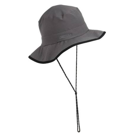 CTR Summit Pack-It Sun Hat - UPF 50+ (For Men and Women) in Black