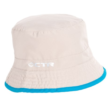 CTR Summit Shower Reversible Bucket Hat - UPF 40+ (For Kids) in Cement