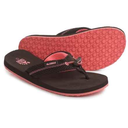 Cudas Edisto Flip-Flops (For Women) in Brown - Closeouts