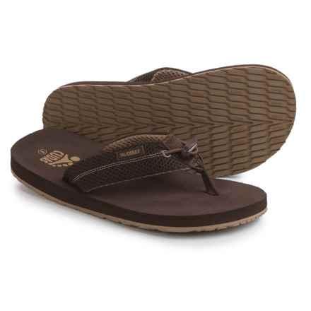 Cudas Edisto PerfectPull Flip-Flops (For Men) in Brown - Closeouts