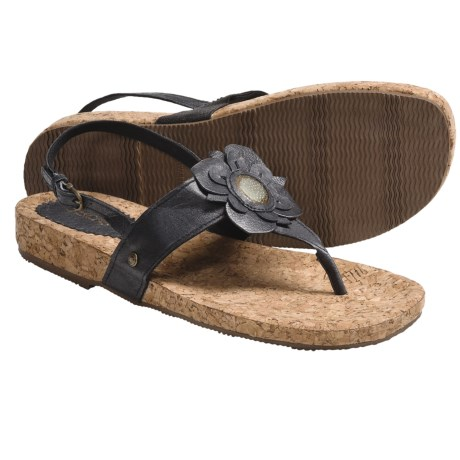 Cudas Rola Sandals (For Women) in Black