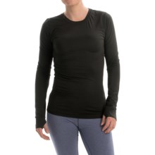 Cuddl Duds ActiveTech Shirt - Crew Neck, Long Sleeve (For Women) in Black - Closeouts