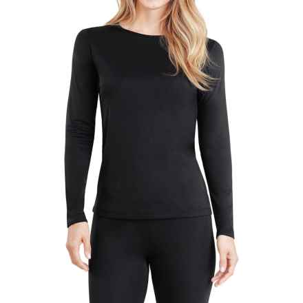 Cuddl Duds Climatesmart® Top - Long Sleeve (For Women) in Black - Closeouts