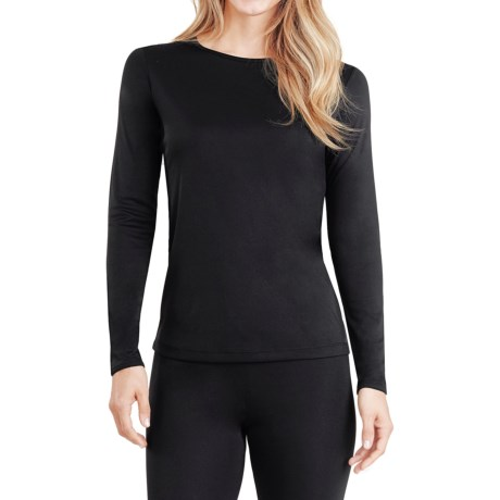Cuddl Duds Climatesmart® Top - Long Sleeve (For Women) in Black