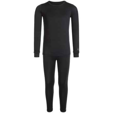 Cuddl Duds Comfortech Base Layer Set - Long Sleeve (For Toddler Boys) in Black - Closeouts