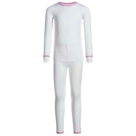 Cuddl Duds Comfortech Base Layer Set - Long Sleeve (For Toddler Girls) in White - Closeouts