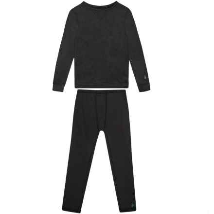 Cuddl Duds Comfortech Stretch Base Layer Set - Long Sleeve (For Toddler Boys) in Black - Closeouts