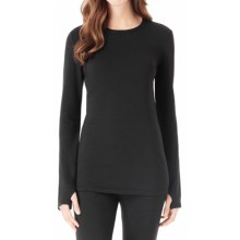 Cuddl Duds Comfortwear Stretch Crew Neck Shirt - Long Sleeve (For Women) in Black - Closeouts