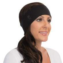 Cuddl Duds Fleece-Jersey Headband - Reversible (For Women) in Black/Black - Closeouts