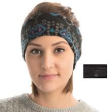 Cuddl Duds Fleece-Jersey Headband - Reversible (For Women) in Blue Fairisle/Black Flex - Closeouts