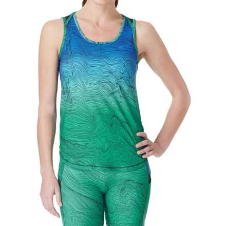 Cuddl Duds SofTech Core Tank Top (For Women) in Aqua Novelty - Overstock