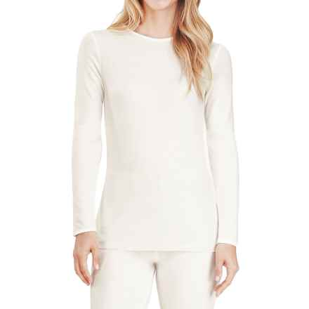Cuddl Duds Softwear Crew Neck Top - Long Sleeve (For Women) in Ivory - Closeouts