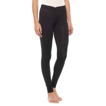 Cuddl Duds Softwear Leggings with Stretch (For Women) in Black - Closeouts