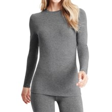 Cuddl Duds Softwear Stretch Jersey Shirt - Crew Neck, Long Sleeve (For Women) in Charcoal Heather - Closeouts