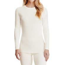 Cuddl Duds Softwear Stretch Jersey Shirt - Crew Neck, Long Sleeve (For Women) in Ivory - Closeouts