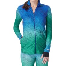 Cuddl Duds Sport Layer SofTech Core Jacket (For Women) in Aqua Novelty - Overstock
