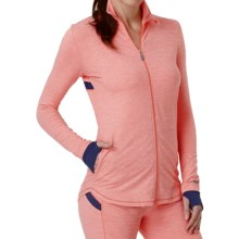 Cuddl Duds Sport Layer SofTech Core Jacket (For Women) in Coral Novelty - Overstock
