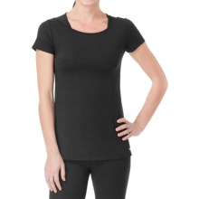 Cuddl Duds Sport Layer SofTech Core Racerback Shirt - Short Sleeve (For Women) in Black - Overstock