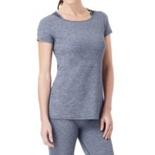 Cuddl Duds Sport Layer SofTech Core Racerback Shirt - Short Sleeve (For Women) in Dark Blue Novelty - Overstock