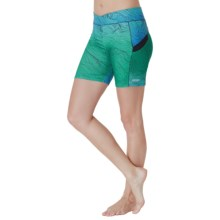 Cuddl Duds Sport Layer SofTech Core Shorts (For Women) in Aqua Novelty - Overstock