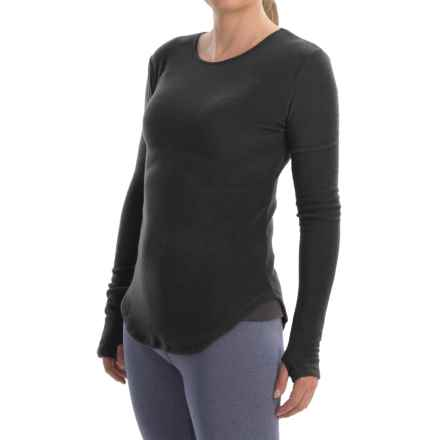 Cuddl Duds Stretch Fleece Base Layer Top - Long Sleeve (For Women) in Black - Closeouts