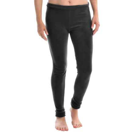 Cuddl Duds Stretch Fleece Leggings (For Women) in Black - Closeouts
