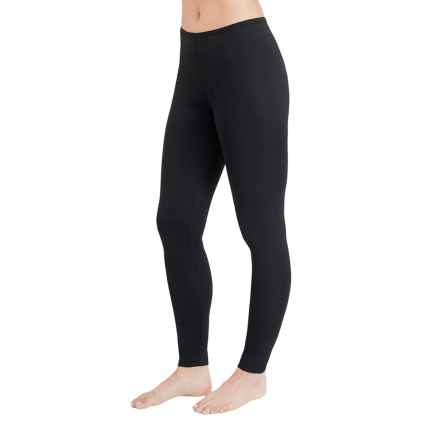 Cuddl Duds Stretch Microfiber Leggings (For Women) in Black - Closeouts