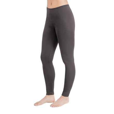 Cuddl Duds Stretch Microfiber Leggings (For Women) in Charcoal - Closeouts