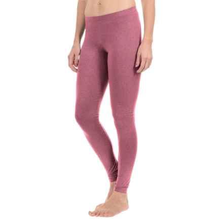 Cuddl Duds Stretch Microfiber Leggings (For Women) in Garnet Heather - Closeouts