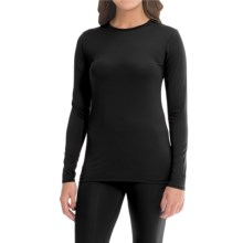Cuddl Duds Stretch Microfiber Top - Long Sleeve (For Women) in Black - Closeouts
